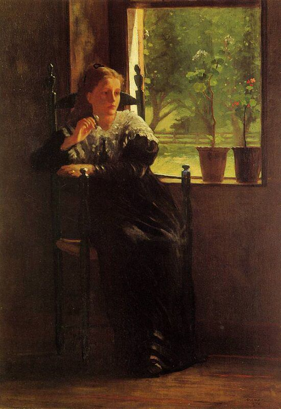 At the Window - by Winslow Homer