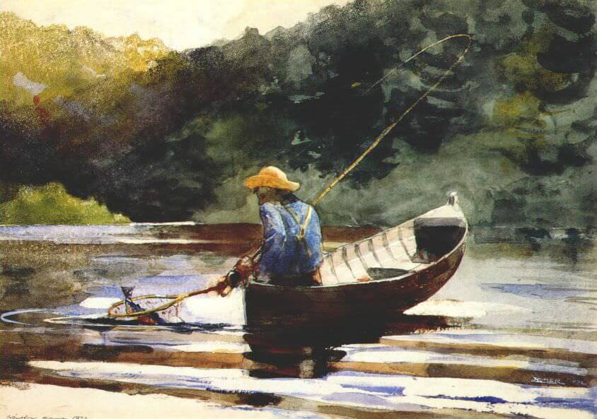 Boy Fishing - by Winslow Homer