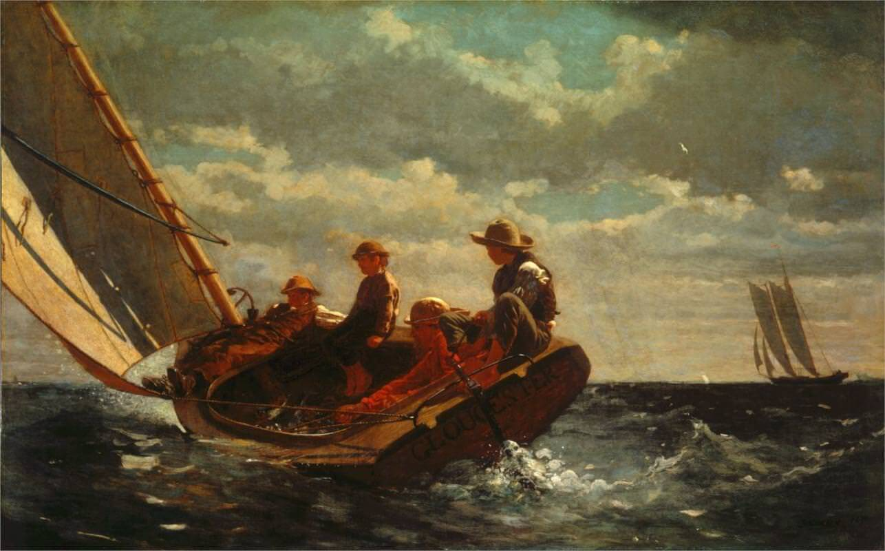 Breezing Up  1876 By Winslow Homer