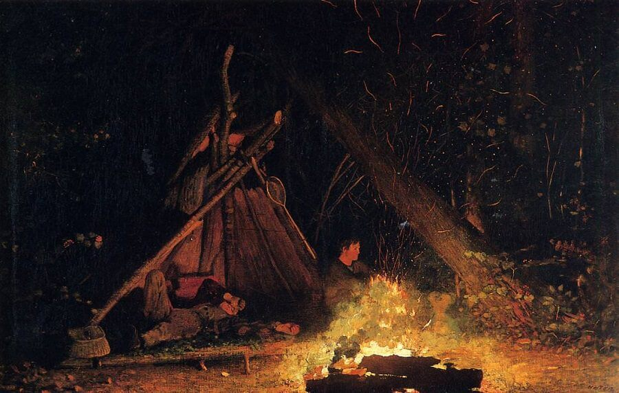 Camp Fire - by Winslow Homer