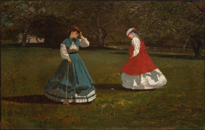 Game of Croquet - by Winslow Homer