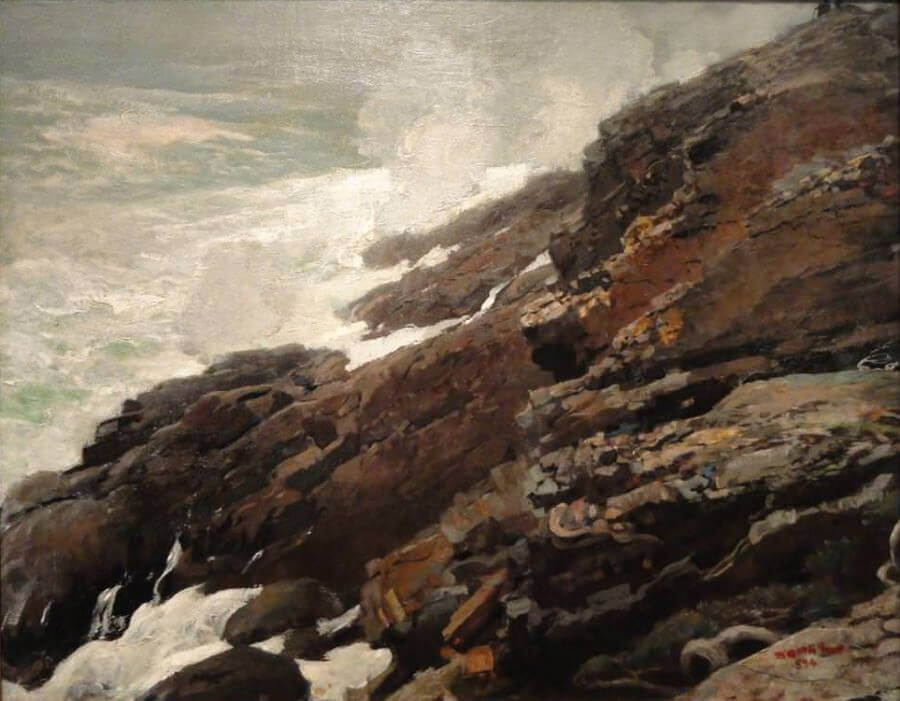 High Cliff Coast of Maine - by Winslow Homer