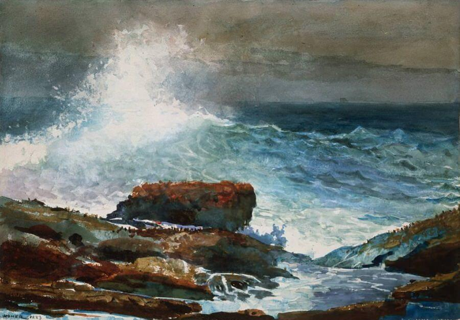 Incoming Tide Scarboro Maine - by Winslow Homer