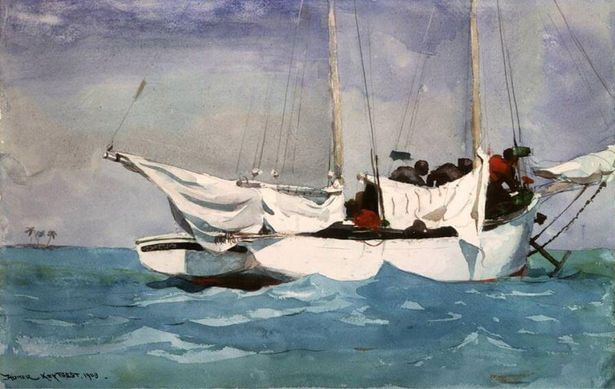 Key West Hauling Anchor - by Winslow Homer