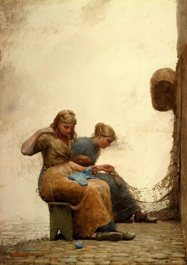 Mending the Nets - by Winslow Homer