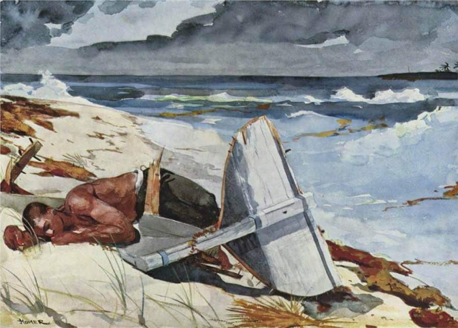 Nach Dem Tornado - by Winslow Homer