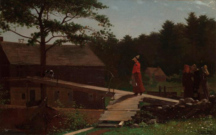 Old Mill The Morning Bell - by Winslow Homer