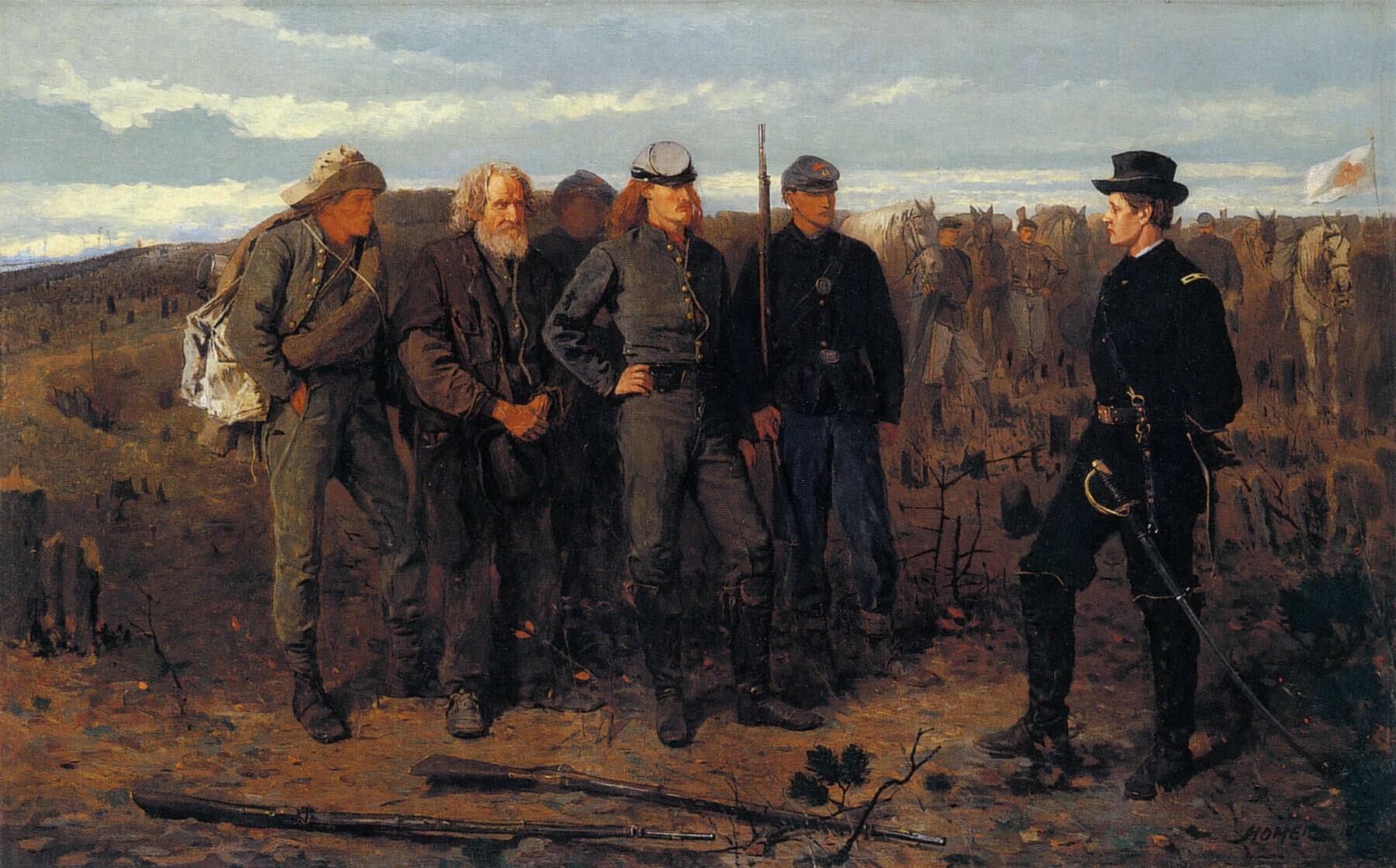 Prisonsers from the front,1866 by Winslow Homer