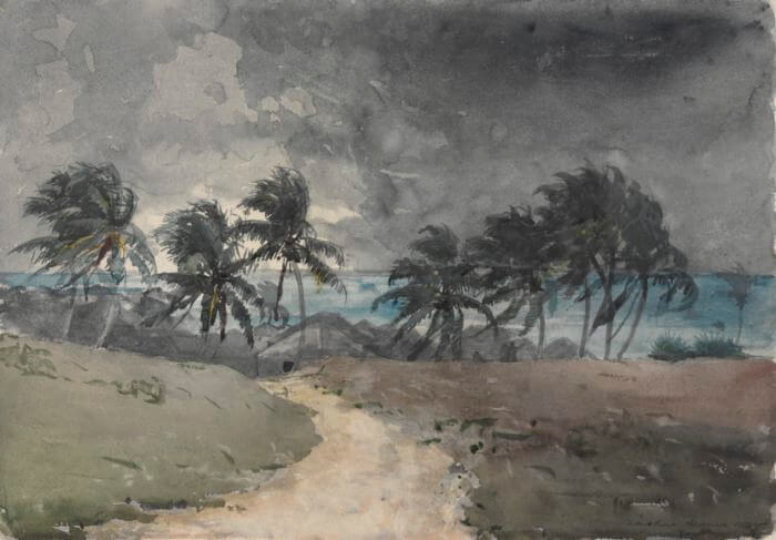 Storm Bahamas - by Winslow Homer