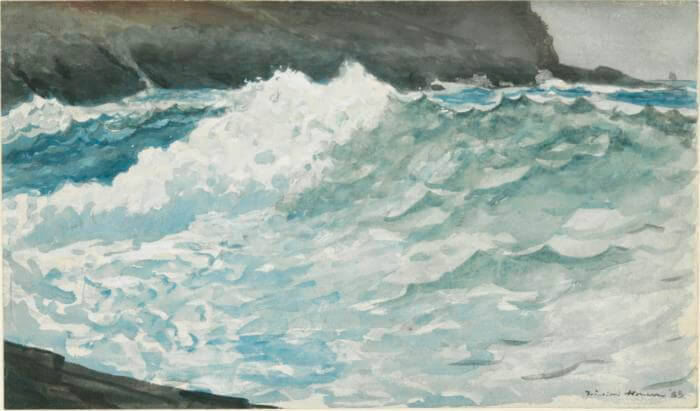 Surf Prouts Neck - by Winslow Homer