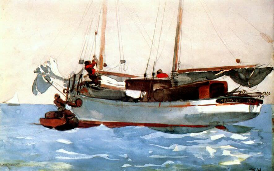 Taking on Wet Provisions - by Winslow Homer