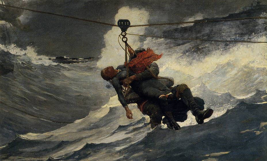 The Life Line, 1884 by Winslow Homer