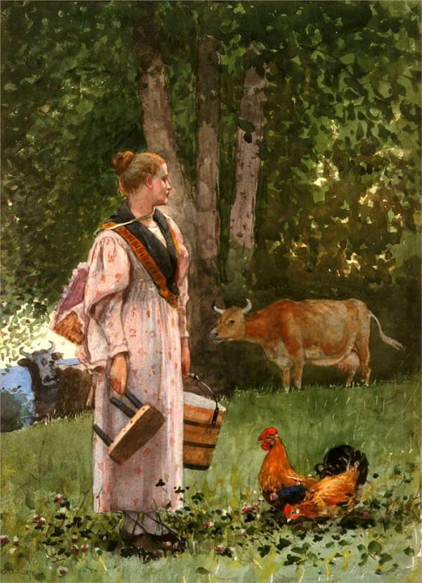 The Milk Maid - by Winslow Homer
